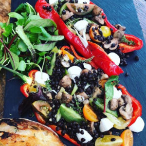 Puy Lentil Stuffed Peppers