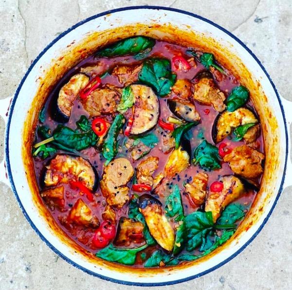 Lamb Aubergine & Spinach Curry