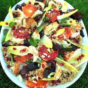 Blood Orange, Chicken & Quinoa Salad