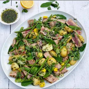Seared Tuna and British Summer Vegetable Salad