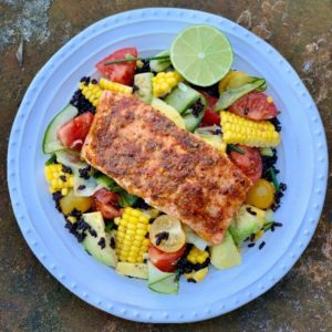 Salmon Cajun Salad
