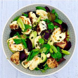 Halloumi, Roasted Cauliflower & Beetroot Salad