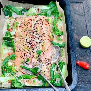 Teriyaki Salmon Tray Bake