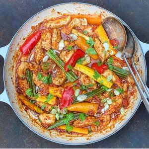 Cajun Chicken, Pepper & Courgette One Pot
