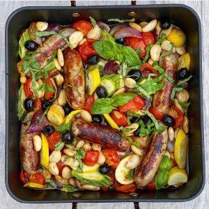 Sausage & Bean Traybake