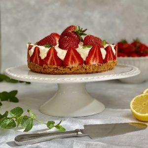 No Cook Strawberry Cheesecake