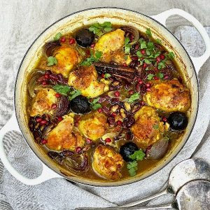 Persian Chicken with Kidney Beans & Black Limes