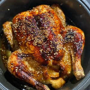 Sesame & Honey Pot Roast Chicken