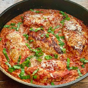 Creamy Tomato Skillet Chicken