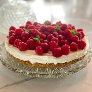 Vanilla Mascarpone and Raspberry Tart