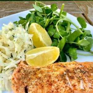 Spiced Trout With Celeriac Salad