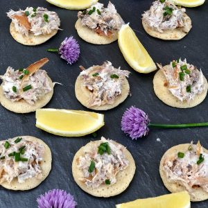 Smoked Mackerel and Horseradish Blinis