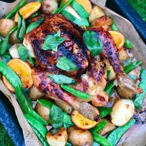 Orange, Honey, Soy & Basil Roast Chicken One Tray