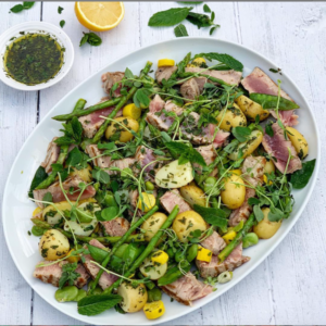 Seared Tuna and British Summer Vegetable Salad