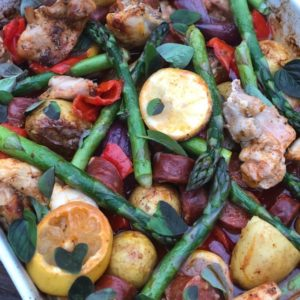 Spanish Chicken & Chorizo One Tray