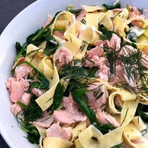 Simple Salmon Pappardelle