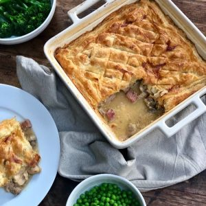 Chicken, Ham and Mushroom Pie