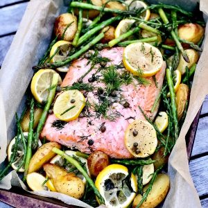 Roast Salmon One Tray