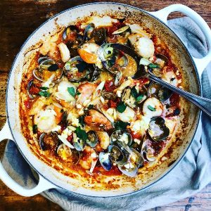 Clam, Prawn and Scallop One Pot