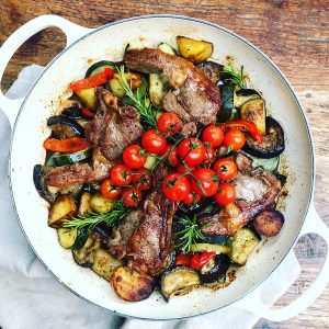 Lamb and Roasted Veg One Pot