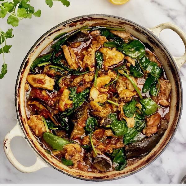 Chicken & Aubergine Curry
