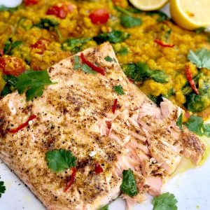 Indian Salmon with Dahl