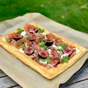 Fig, Gorgonzola & Prosciutto Tart