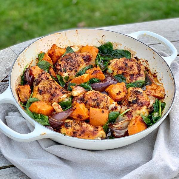 Rose Harissa Chicken One Pot