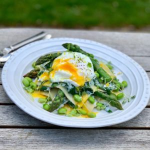 Asparagus, Spinach and Ricotta Open Lasagne