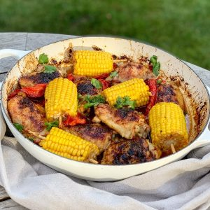 Chipotle Chicken, Pepper and Corn One Pot
