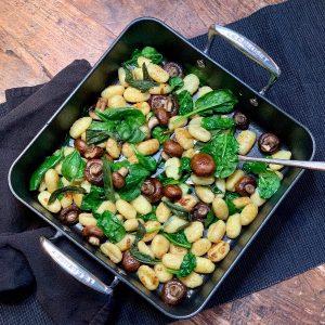Sage, Garlic, Mushroom & Spinach Gnocchi
