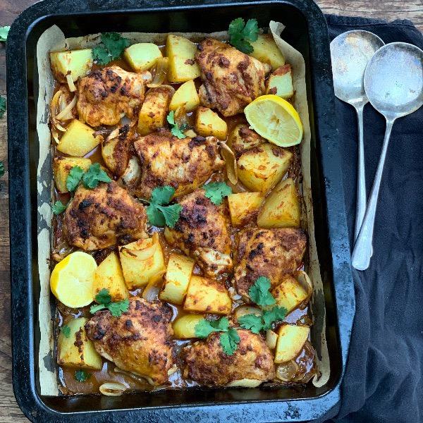Chicken Tikka Tray Bake