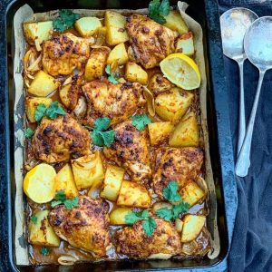 Chicken Tikka Tray Bake