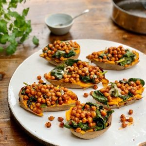 Chickpea Loaded Sweet Potatoes