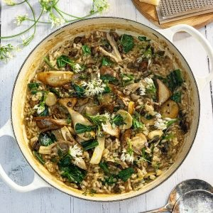 Wild Garlic and Mushroom Risotto