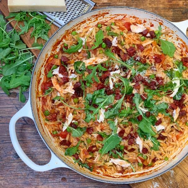Chicken and Chorizo Orzo