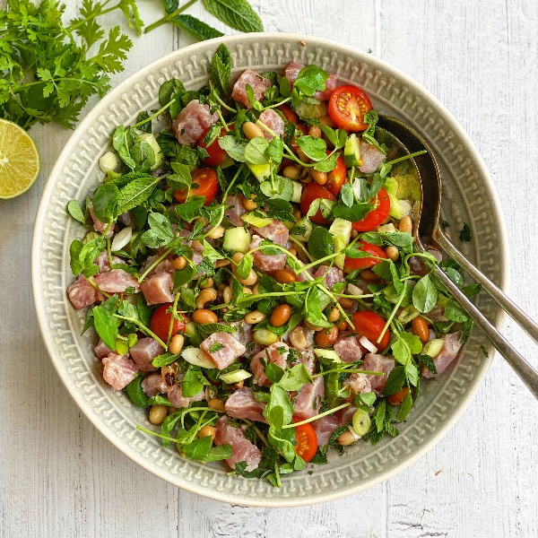 Tuna Ceviche & Bean Salad