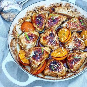 Teriyaki & Orange Chicken Tray Bake