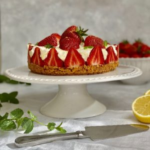 No Cook Strawberry Cheesecake