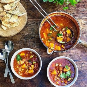 Moroccan Chickpea & Sweet Potato Soup