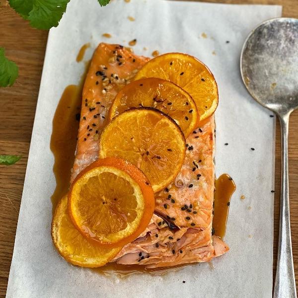 Honey, Soy and Orange Salmon