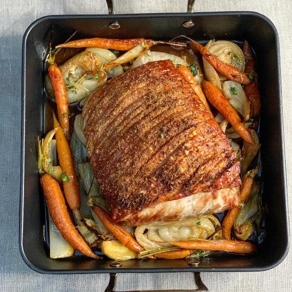 Roast Pork & Braised Veggies